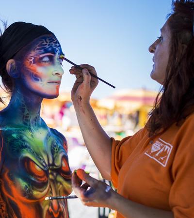 icona body-painting
