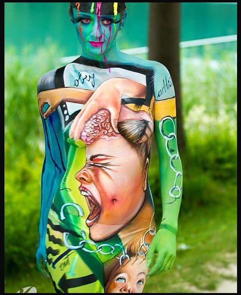 Lucia Postacchini Corsi Regionali Master Airbrush, Master creative makeup, Workshop Body Painting, Accademia di Trucco Professionale Roma 19