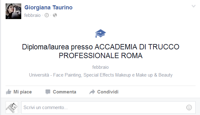 Accademia di Trucco Professionale Roma corsi master corso trucco permanente art make up cinema ciglia sopracciglia masters consulenza immagine Giorgiana Taurino Diploma