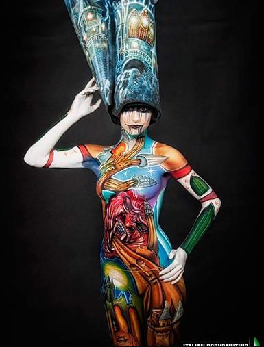Lucia Postacchini Corsi Regionali Master Airbrush, Master creative makeup, Workshop Body Painting, Accademia di Trucco Professionale Roma 07