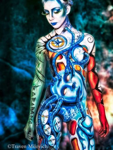 Lucia Postacchini Corsi Regionali Master Airbrush, Master creative makeup, Workshop Body Painting, Accademia di Trucco Professionale Roma 08
