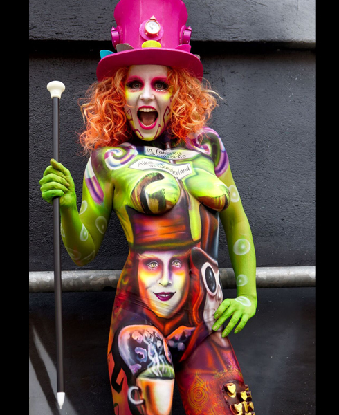 Lucia Postacchini Corsi Regionali Master Airbrush, Master creative makeup, Workshop Body Painting, Accademia di Trucco Professionale Roma 04