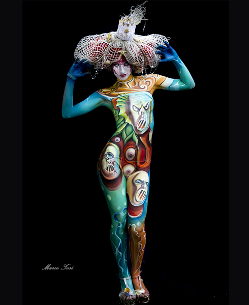 Lucia Postacchini Corsi Regionali Master Airbrush, Master creative makeup, Workshop Body Painting, Accademia di Trucco Professionale Roma 17