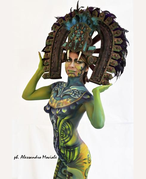 Lucia Postacchini Corsi Regionali Master Airbrush, Master creative makeup, Workshop Body Painting, Accademia di Trucco Professionale Roma 09
