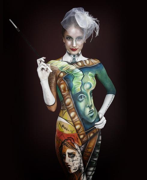 Lucia Postacchini Corsi Regionali Master Airbrush, Master creative makeup, Workshop Body Painting, Accademia di Trucco Professionale Roma 11