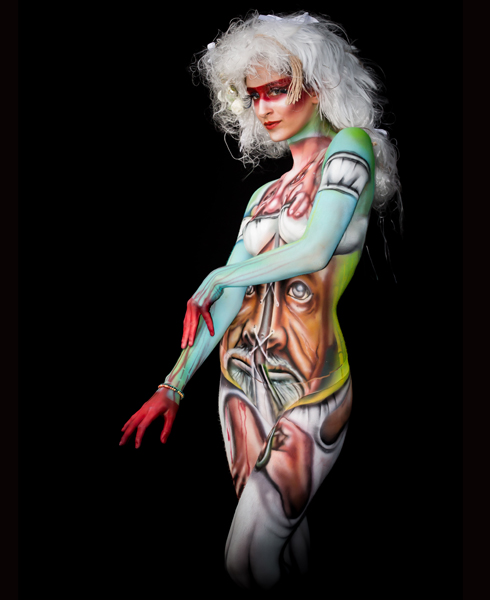 Lucia Postacchini Corsi Regionali Master Airbrush, Master creative makeup, Workshop Body Painting, Accademia di Trucco Professionale Roma 13