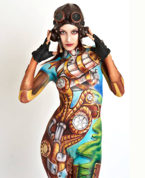 Lucia Postacchini Corsi Regionali Master Airbrush, Master creative makeup, Workshop Body Painting, Accademia di Trucco Professionale Roma 14
